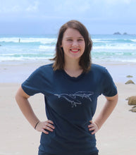 Load image into Gallery viewer, Whale T-shirt - dyed denim