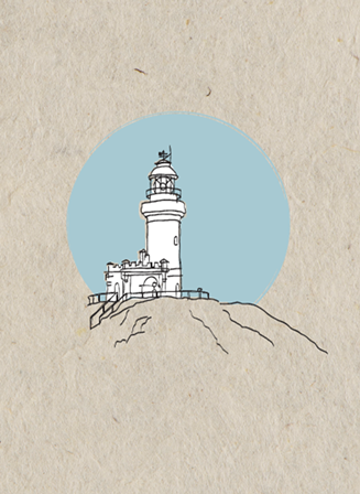 Lighthouse card - blue