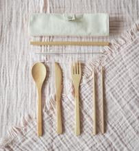 Load image into Gallery viewer, Reusable Bamboo Cutlery Set