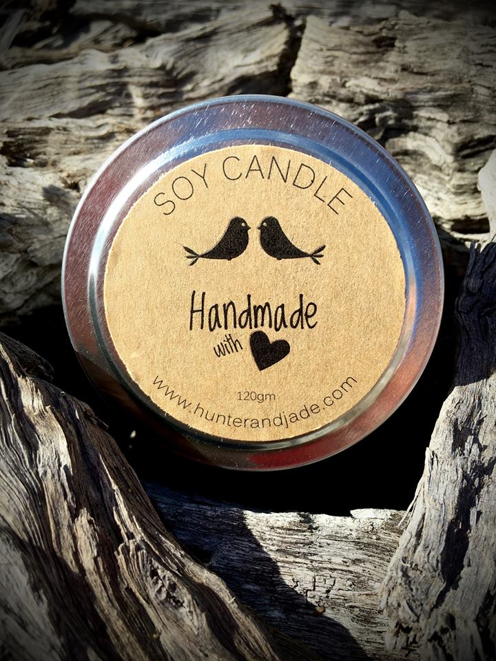 Soy Candle - Handmade - Rosemary
