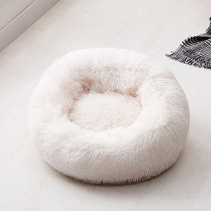 Long Plush Donut Bed - Amazing Pet