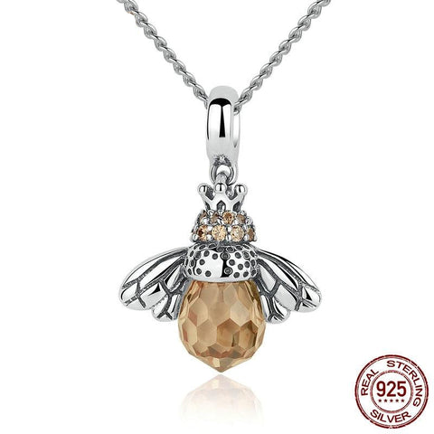 925 Sterling Silver Bee Pendant Necklace - Amazing Pet