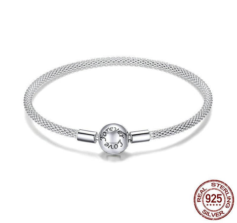 925 Sterling Silver Snake Chain Love Bracelet - Amazing Pet