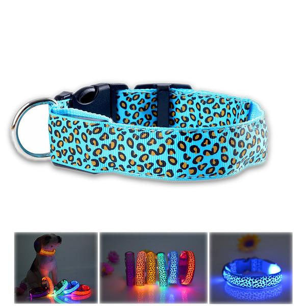 5 Color Leopard Striped Glowing Collar