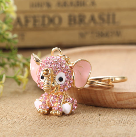 Pink Elephant Keychain - Amazing Pet