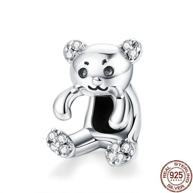 925 Sterling Silver Little Bear Charm - Amazing Pet