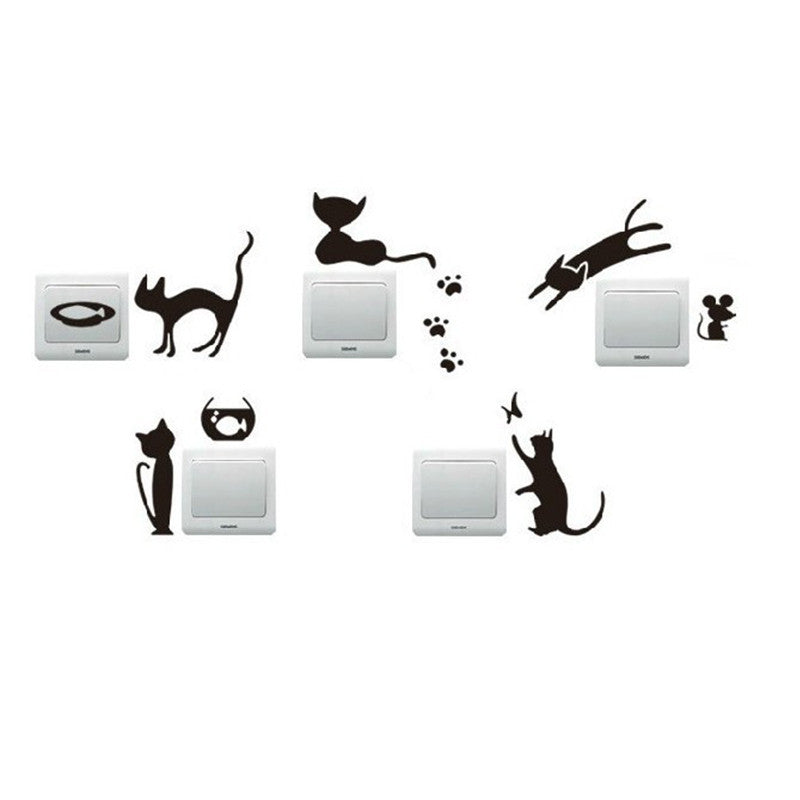 One Set (5 pcs) of Removable Wall Sticker