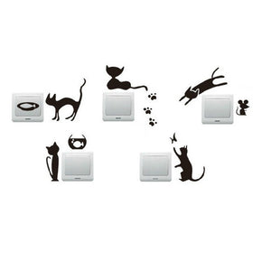One Set (5 pcs) of Removable Wall Sticker - Amazing Pet