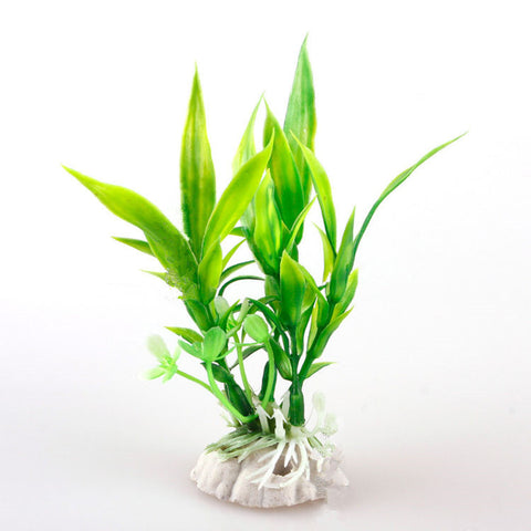 Artificial Bamboo Leaf Grass Fish Tank Decor - Amazing Pet