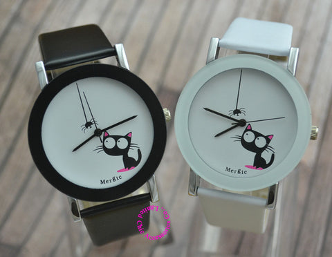 Spider & Cat Watch for Kids and Women - Amazing Pet