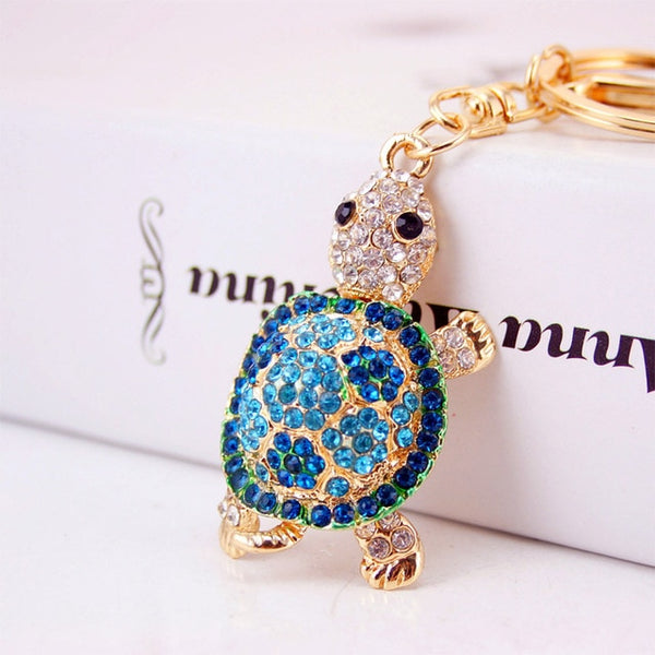 Rhinestone Tortoise Key Chains - Amazing Pet