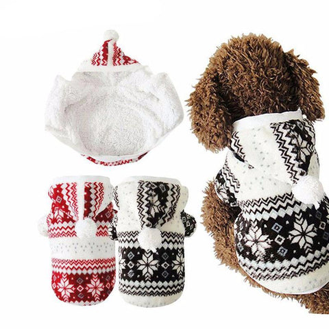 Pet Sweater - Snowflake Pattern