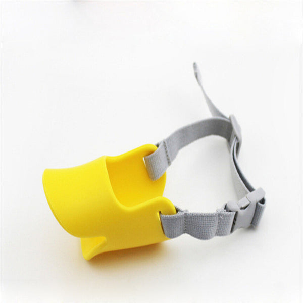 Cute Duck Silicone Dog Muzzle