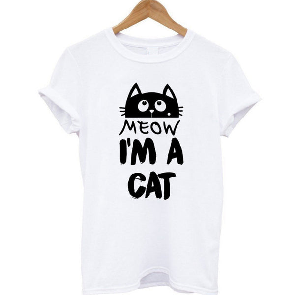 "Cotton ""I Am a Cat"" Women T-Shirt"