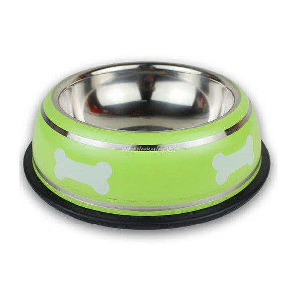 Bone Print Stainless Steel Pet Bowl - Amazing Pet