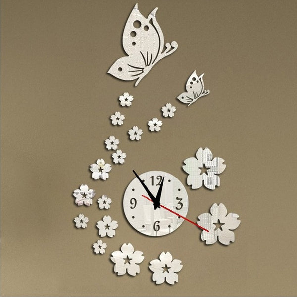 DIY Acrylic Butterfly Wall Clock