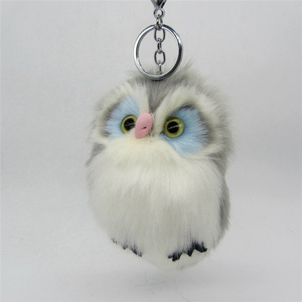 Fluffy Owl Pom Pom Keychain - Amazing Pet