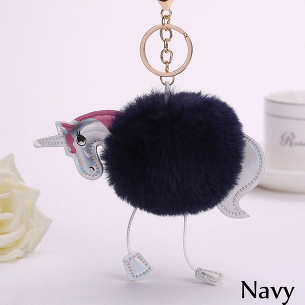Cute Fluffy Keychain - Unicorn