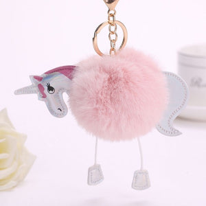 Cute Fluffy Keychain - Unicorn - Amazing Pet
