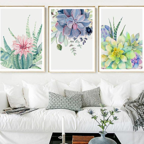 Cactus Flower Wall Poster / Painting - Amazing Pet
