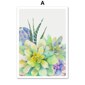 Cactus Flower Wall Poster / Painting
