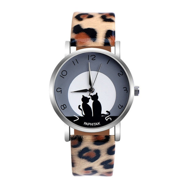 Faux Leather Watch - Pair of Cats - Amazing Pet