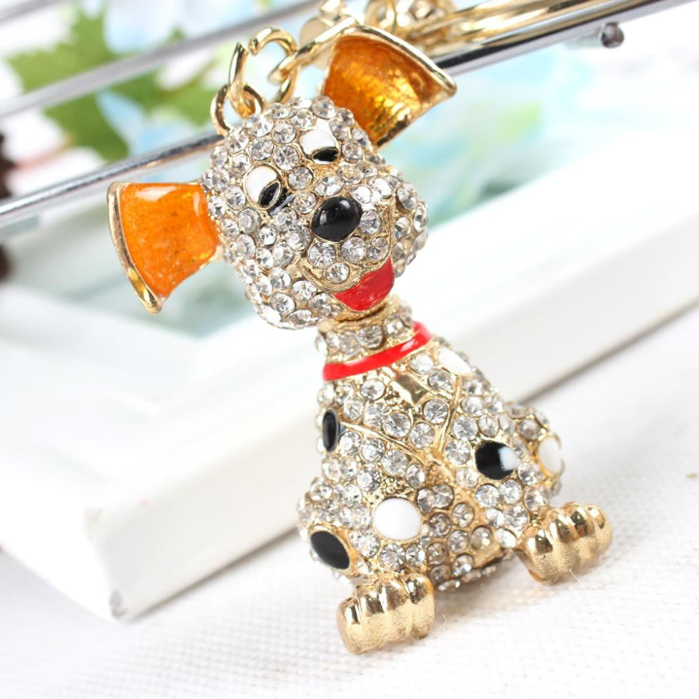 Dog Rhinestone Keychain - Amazing Pet