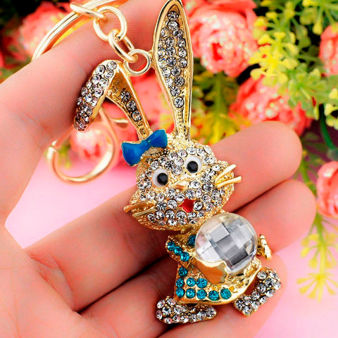 Rhinestone Rabbit Keychain - Amazing Pet