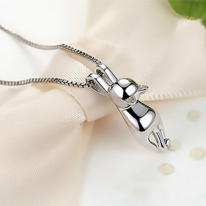 925 Sterling Silver Cat Pendant Necklace - Amazing Pet