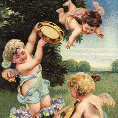 Cherubs Playing Music Artwork