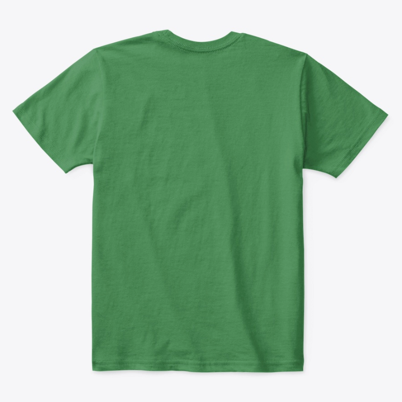 Kids Cotton Tee Classic T-Shirt Kelly Green Back
