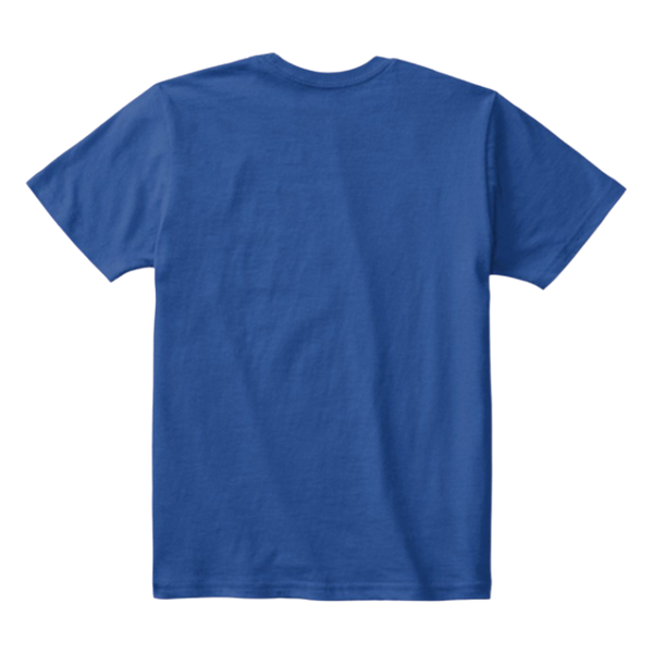 Kids Cotton Tee Classic T-Shirt Deep Royal Back