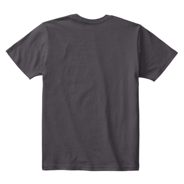 Kids Cotton Tee Classic T-Shirt Heathered Charcoal Back