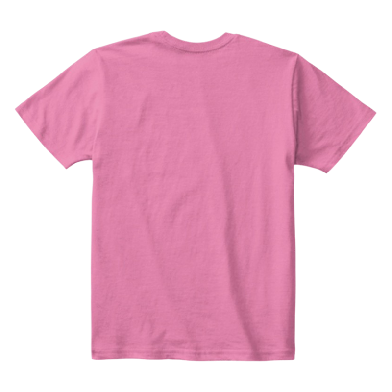 Kids Cotton Tee Classic T-Shirt True Pink Back
