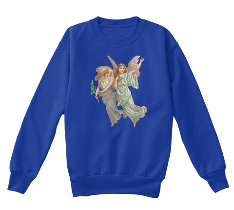 Kids Crewneck Sweatshirt with Heavenly Angel Art Print