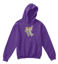 Kids Hoodie Sweatshirt with Heavenly Angels Art Print