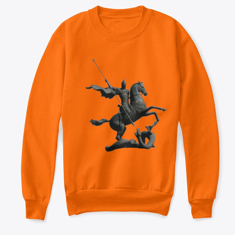 Kids Crewneck Sweatshirt with Saint George and the Dragon Art Print
