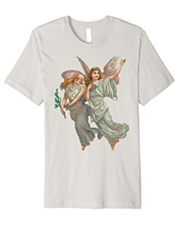 Unisex Cotton Tee T-shirt with Heavenly Angel Art Print