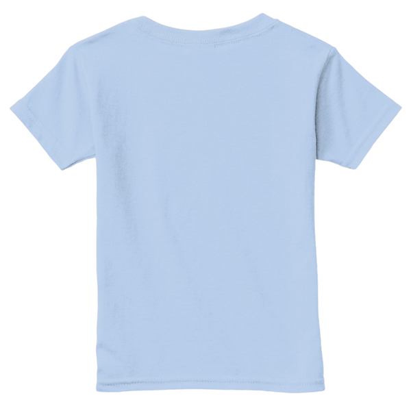 Mythic Art Clothing Toddler Classic Cotton Tee Light Blue Back