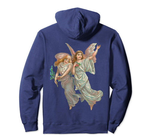 Unisex Pullover Hoodie Sweatshirt with Heavenly Angel Art Print