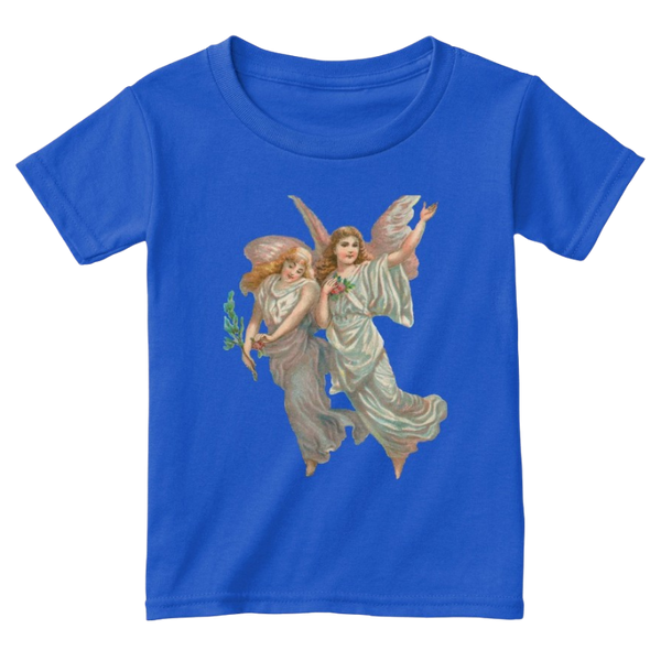 Mythic Art Clothing Toddler Classic Cotton Tee with Heavenly Angel Art Print Royal Front