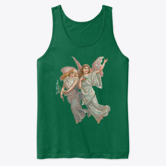 Unisex Cotton Tank Top with Heavenly Angel Art Print