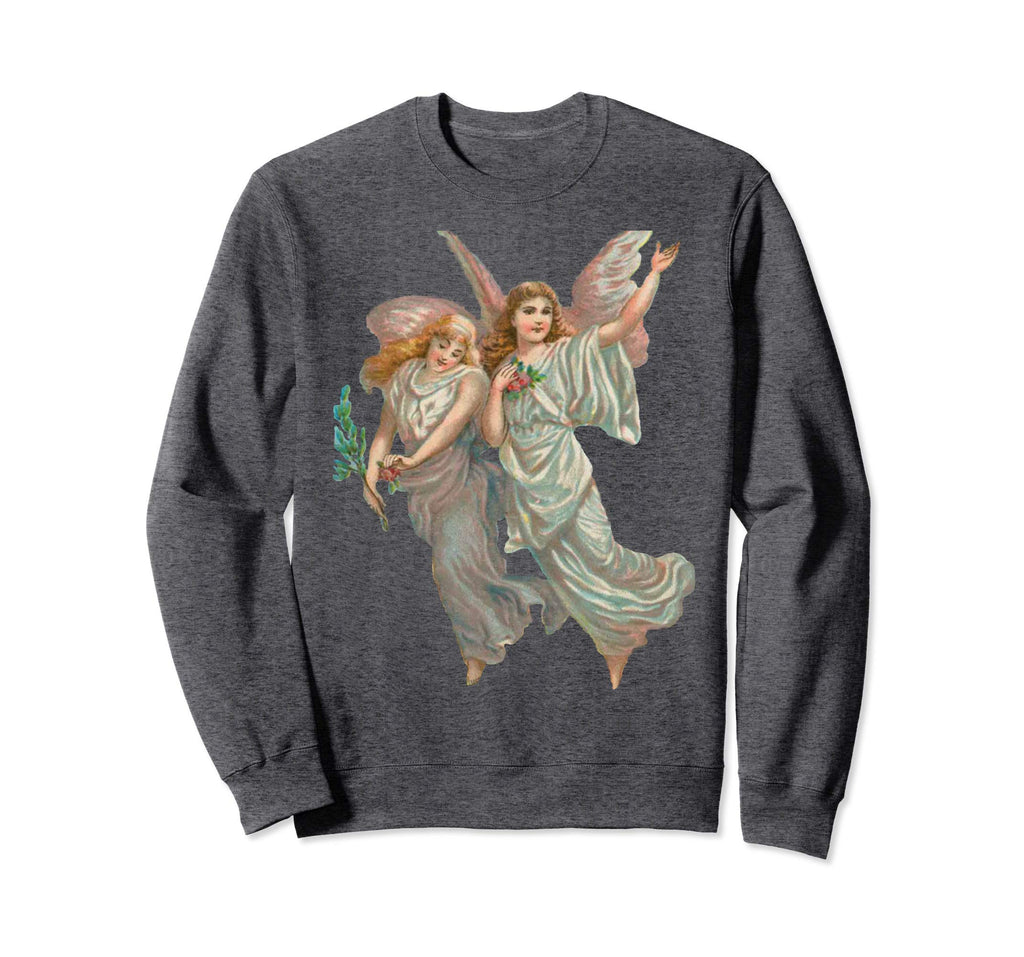 Unisex Crewneck Sweatshirt Heavenly Angel Art Grey