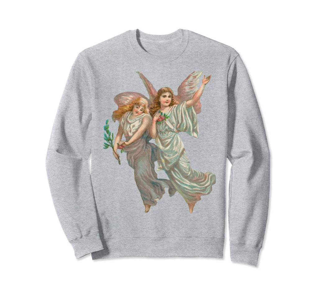 Unisex Crewneck Sweatshirt Heavenly Angel Art Heather Grey