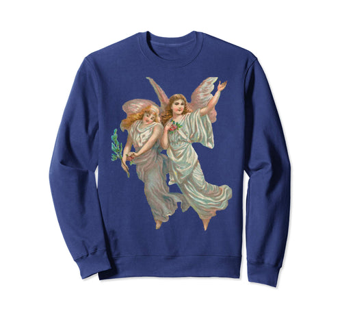Unisex Crewneck Sweatshirt Heavenly Angel Art Navy