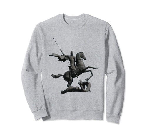 Unisex Crewneck Sweatshirt Saint George and the Dragon Grey