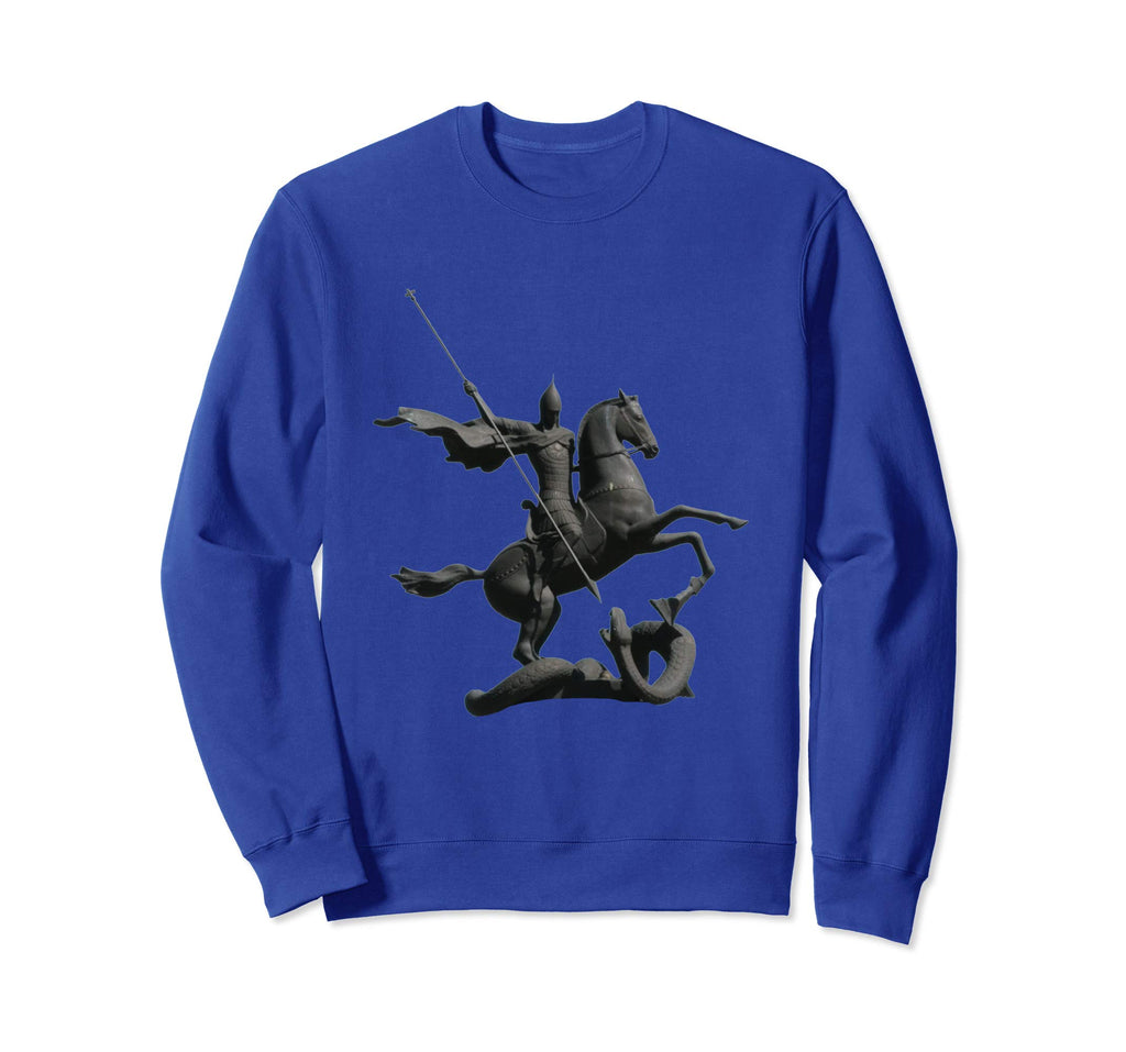 Unisex Crewneck Sweatshirt Saint George and the Dragon Royal Blue