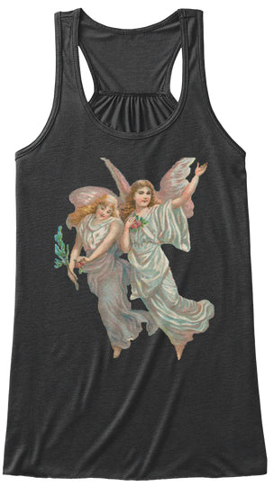 Womens Flowy Tank Top with Heavenly Angel Art Print