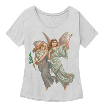 Womens Slouchy Tee with Heavenly Angel Art Print