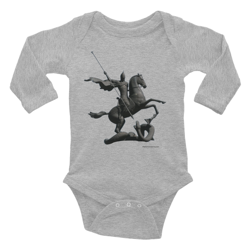 Infant Long Sleeve Cotton Baby Bodysuit Saint George and Dragon
